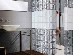 ванная комната стеклоблоки