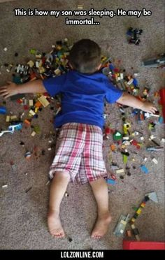 This Is How My Son Was Sleeping. He May Be...