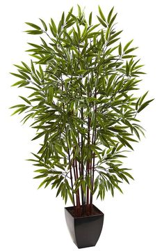 Bamboo Artificial Silk Tree with Planter | 60 inches