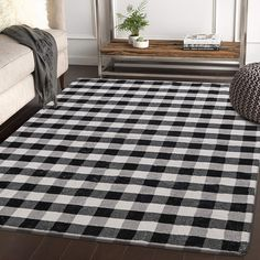 HAOCOO Buffalo Plaid Area Rugs Large Modern Geometric Throw Rugs Super Soft Velvet Non-Slip Accent Distressed Floor Carpet for Bedroom Living Room Nursery Floor Rugs, Farm House Living Room, Plaid Area Rug, Rustic Home Interiors, Living Room Carpet, Minimalist Christmas Decor, Distressed Floors, Rugs, Rugs In Living Room