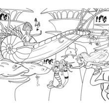 ERIS On Her SUBMARINE COACH Coloring Page