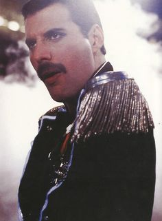 Freddy Mercury and glitzy shoulders :)