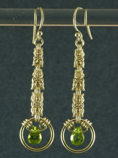 Peridot Graduated Byzantine Earrings