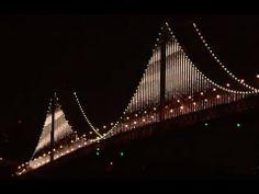 75th anniversary - San Francisco Bay Bridge Lights: An LED Art Installation - Bridge of Light