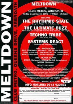 Meltdown 1995 March - Happy Hardcore/Techno Flyers