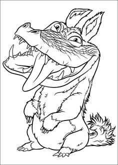 Croods Coloring pages for kids. Printable. Online Coloring. 2