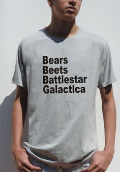 Bears Beets Battlestar Galactica Funny Mens T SHIRT  by FavoriTee