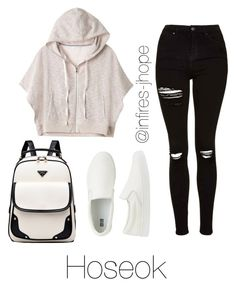 """Studying with Hoseok"" by infires-jhope on Polyvore featuring Topshop, Victoria's Secret and Uniqlo"
