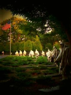 Korean War Memorial, Washington, DC - haunting...go on a grey, rainy day...