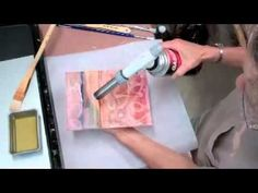 Jean Davies - Plaster and Wax 2 - YouTube  Addind wax  and crayon to the plaster base.  (Plaster & Wax 1 demos textured plaster base)