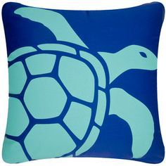 07395ad35 x Beach house modern decorative with a graceful sea turtle. The modern  design Tortuga pillow in Cocoa-Aqua is an homage to the wise ancient sea  turtles ...