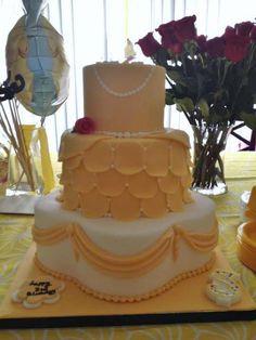 beauty and the beast birthday cake.