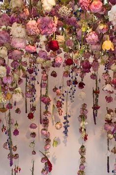 Floral installation by Rebecca Louise Law at the Chelsea Flower Show 2013