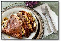 Czekoladowe naleśniki z serkiem waniliowym i bananami z rumem – Tajemnice smaku