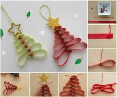 Do-it-yourself Christmas Decorations - 60 DIY Ideas Ideas - Fashion And Hairstyle Christmas Ornaments To Make, Christmas Crafts For Kids, Christmas And New Year, Winter Christmas, Christmas Decorations, Xmas, Holiday Decor, Origami, Craft Gifts