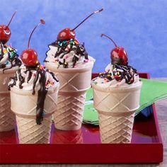Vanilla Sundae Cone Cupcakes