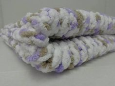 Knitted Baby Blanket   Little Lilac Dove by PolkaDotKreations, $40.00