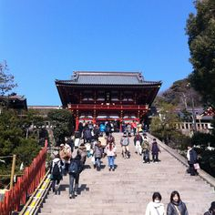 The most important Shinto shrine in the city of Kamakura, originally built in 1063. It is the center of much cultural activity and both Yabusame (archery from horseback) and kyūdō (Japanese archery) are practiced within the shrine. In The Amazing Race, S18 Roadblock: Dress in the traditional clothes of a samurai archer, perform the first two aspects of the ritual to the dojo master's satisfaction, mount a rotating wooden horse and hit a wooden target with an arrow.