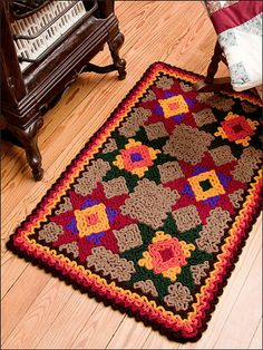 Ravelry: Quilt Rug pattern by Susan Lowman