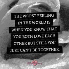 The worst feeling...