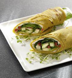 Vegetarische Rezepte: Rezept: Wraps on the Run Zutaten für 2 Personen