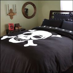 Skull n crossbones bed set..... is it wrong that I'm a 35 year old woman and I still want this?