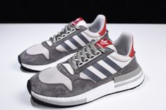 2880a743d 2018 adidas ZX500 RM Boost OG Grey Four White Scarlet B42204 Streetwear  Shoes