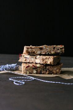 Cherry-Almond Granola Bars. #PureWowRecipes