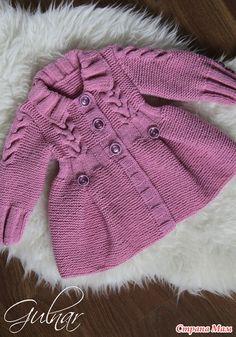 Добрый день! Наконец-то нашла время связать пальто-кардиган для дочки подруги.