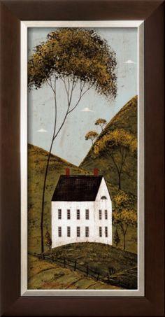 Country Panel III, House Framed Art Print