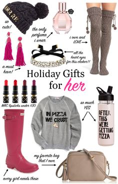 Gift guide for her, Christmas gifts, holiday gifts for her