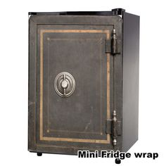 Safe Vintage Mini Fridge front wrap sticker Every order is custom size to fit the product that your going to wrap. How to install a Mini fridge wrap video Mini