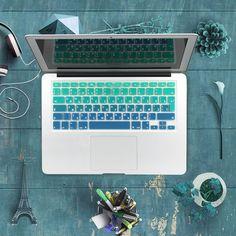 """Silicona EU/UK alfabeto Ruso Gradiente de Colores Cubierta de Pegatinas Protector de Teclado para Macbook Air 13 """"MacBook Pro 13"""" 15 """"Retina"""