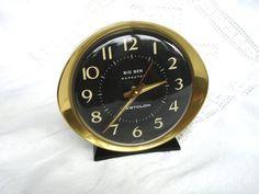 1970s Westclox Big Ben Repeater Alarm Clock Black Retro Clock by FillyGumbo