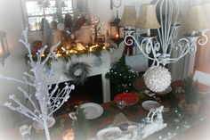 christmas dining room decorating
