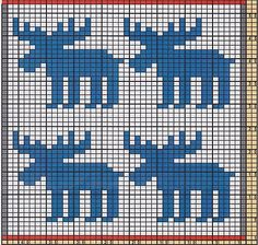 Terrific Snap Shots knitting charts moose Concepts Ravelry: Potholder Xmas Mooses pattern by Regina Schoenfeldt Cross Stitch Borders, Cross Stitch Animals, Cross Stitching, Cross Stitch Embroidery, Cross Stitch Patterns, Knitting Charts, Knitting Stitches, Arm Knitting, Knitting Patterns