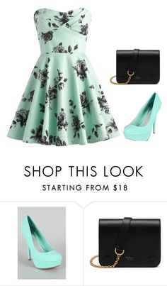 """""""Mint Dress"""" by kayleecat124 ❤ liked on Polyvore featuring Mulberry"""