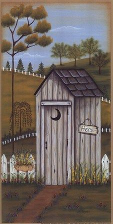 Her Outhouse Fine-Art Print by Lisa Kennedy at FulcrumGallery.com