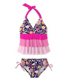 Osh Kosh Toddler Girls Leopard Two Piece Tankini Swimsuit Size 2T 3T 4T $34