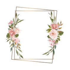Packaging Ideas Discover Watercolor Gold Geometric Frames Blush and Gold Floral Frames Resources for Stationery and Invite Designs