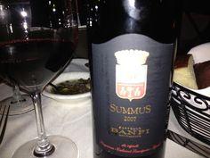 Castello Banfi Summus!  An amazing Super Tuscan.