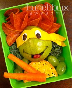 Ninja Turtles Food Art - I would eat far more vegetables if my lunch looked like this