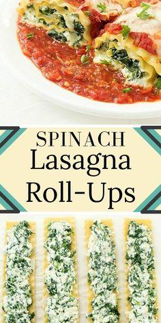 Sріnасh Lаѕаgnа Roll-Ups - Brunch recipes - Lasagna Recipes Healthy Lasagna Rolls, Vegetarian Lasagna Roll Ups, Spinach Lasagna Rolls, Vegetarian Recipes, Cooking Recipes, Healthy Recipes, Vegetable Lasagna Roll Ups, Spinach Roll Ups, Lasagna Food