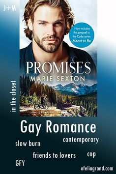 Promises (Coda Books 1) by Marie Sexton - contemporary gay romance books, mmromance #gayromancebooks #mmromance Slow Burn, Reading Challenge, Character Names, Romance Books, First Names, Book 1, Burns, Meant To Be, Gay