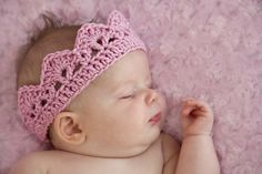 SPARKLE CROWN - Pretty princess or prince crown!  Made with a special sparkle yarn!  All colors listed have the silver mixed in for the sparkle.First photo is pink, second photo is royal blue, third photo is aqua.Second photo by Lauren Peele Photographywww.laurenpeelephotography.comFirst