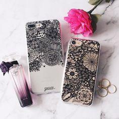 """ALL BLACK para seu smartphone! {cases: flores e """"black and black""""} [FRETE GRÁTIS A PARTIR DE DUAS GOCASES] ✌ #gocasebr #instagood #iphonecase #iphone7plus #iphone7 #black #allblack #tokastudio #lovegocase"""
