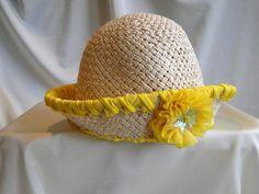 Sweet Fluffings® Child/Kids Bucket Straw Hat - Style 2, $19.95 from Fluff Monkey®
