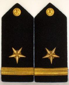 US Navy Naval USN Male Ensign Line Officer Shoulder Boards Bullion