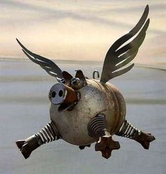 another steampunk flying pig!!!                                                                                                                                                                                 More