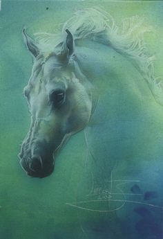 turquoise & lime - Ghost Horse by JeffLafferty